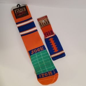 Bundle of Freaker Feet socks & bottle insulator